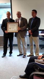 On December 17, 2015 the Botetourt County Sheriff's Office was formally awarded their Reaccreditation Certificate. Making the presentation is Sheriff Atkins, Salem Sheriff Office and VLEPSC Commissioner. Pictured are Sheriff Atkins, Sheriff Ronnie Sprinkle BCSO, and Deputy Greg Marshall, BCSO Accreditation Manager. Congrats on a job well done!!!!
