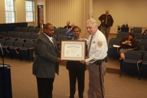 On December 15, 2015 The Clarke County Sheriff Office was formally presented with their 2nd Accreditation award. Presenting the award to Sheriff Roper is Sgt Rebecca Herrera, VALEAC President and Team leader for the assessment and DCJS Accreditation Center Program Manager Derrick Mays. Congratulations Clarke Co. SO on a job well done!!!